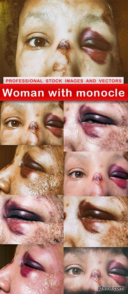 Woman with monocle - 9 UHQ JPEG