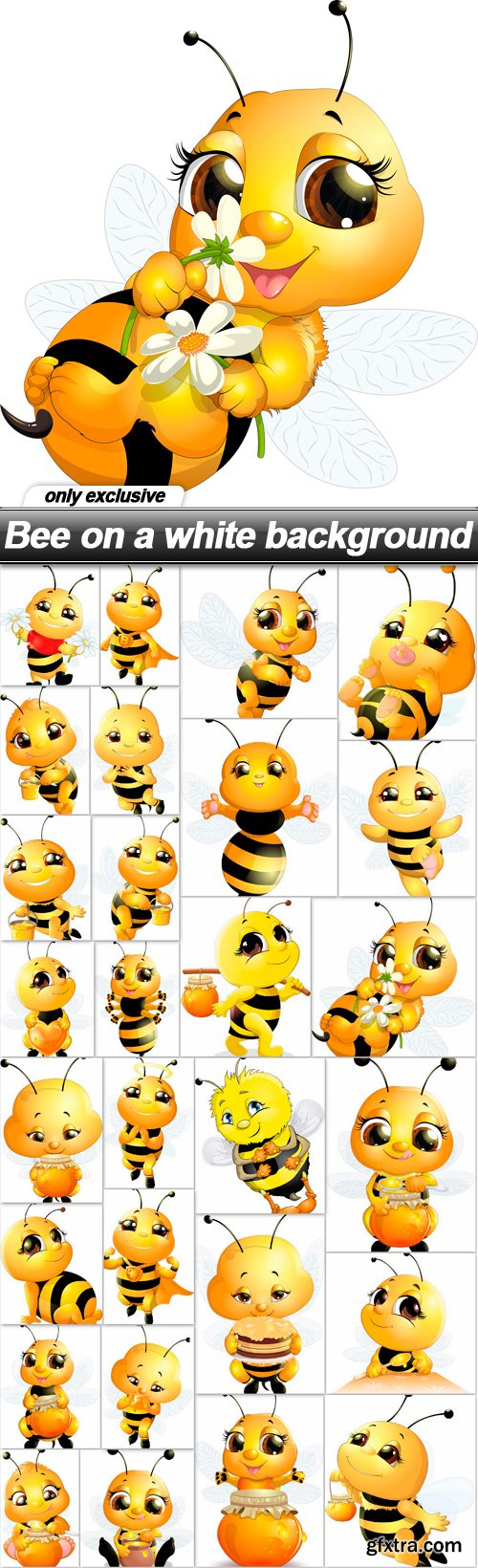 Bee on a white background - 28 EPS