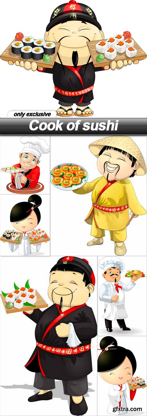 Cook of sushi - 7 EPS