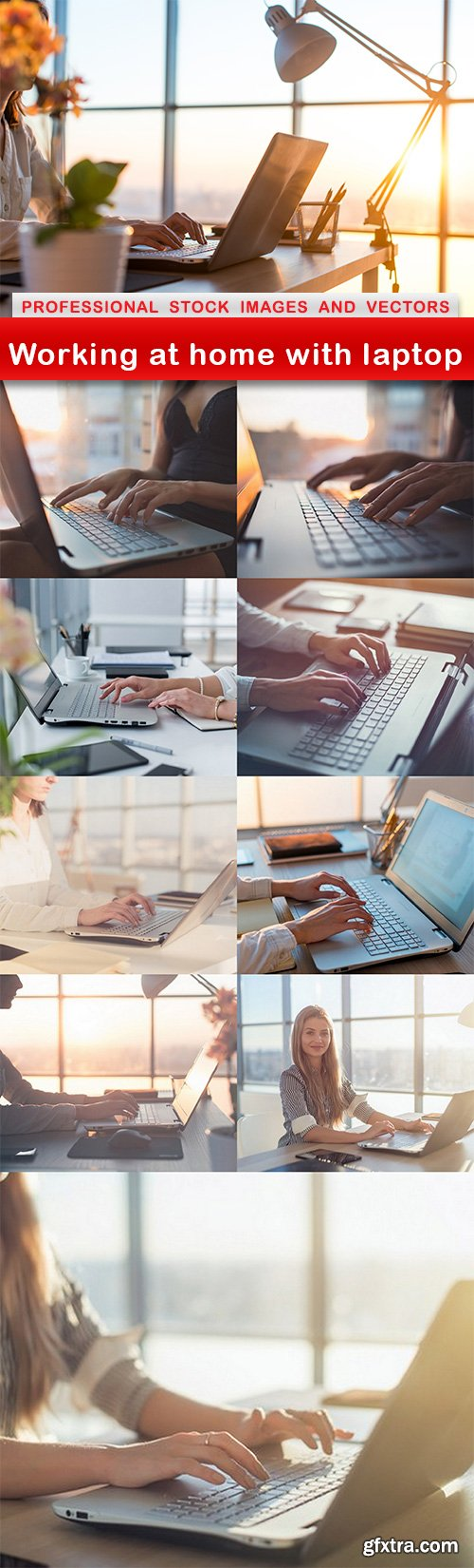 Working at home with laptop - 10 UHQ JPEG