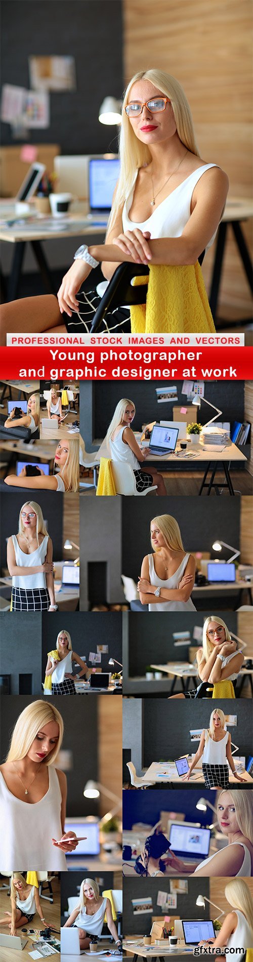 Young photographer and graphic designer at work - 15 UHQ JPEG