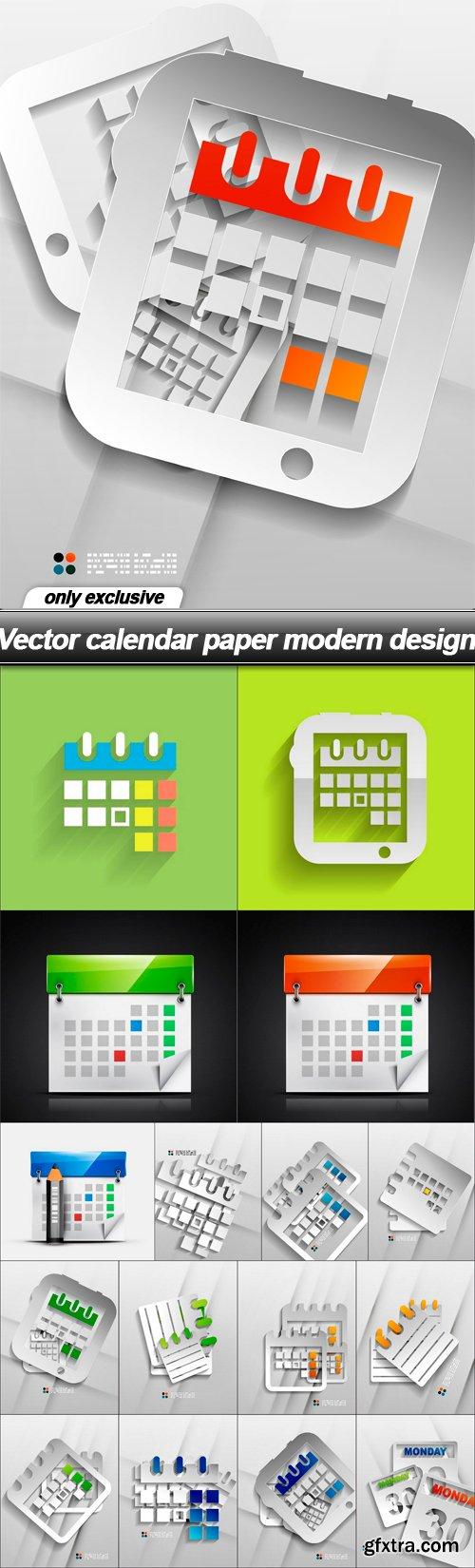 Vector calendar paper modern design - 17 EPS