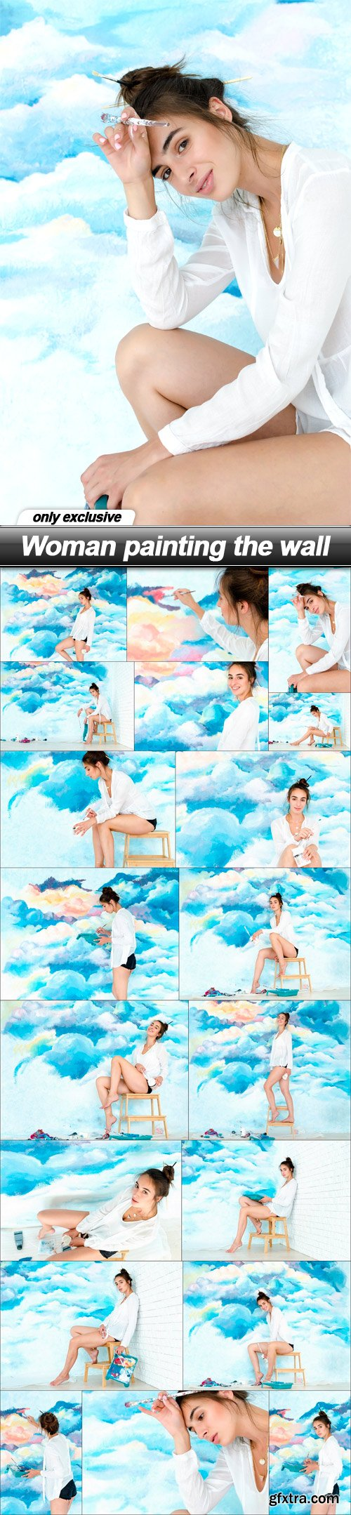 Woman painting the wall - 19 UHQ JPEG
