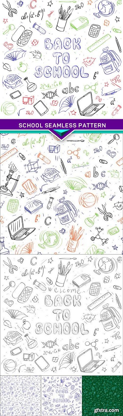 School seamless pattern 6X EPS