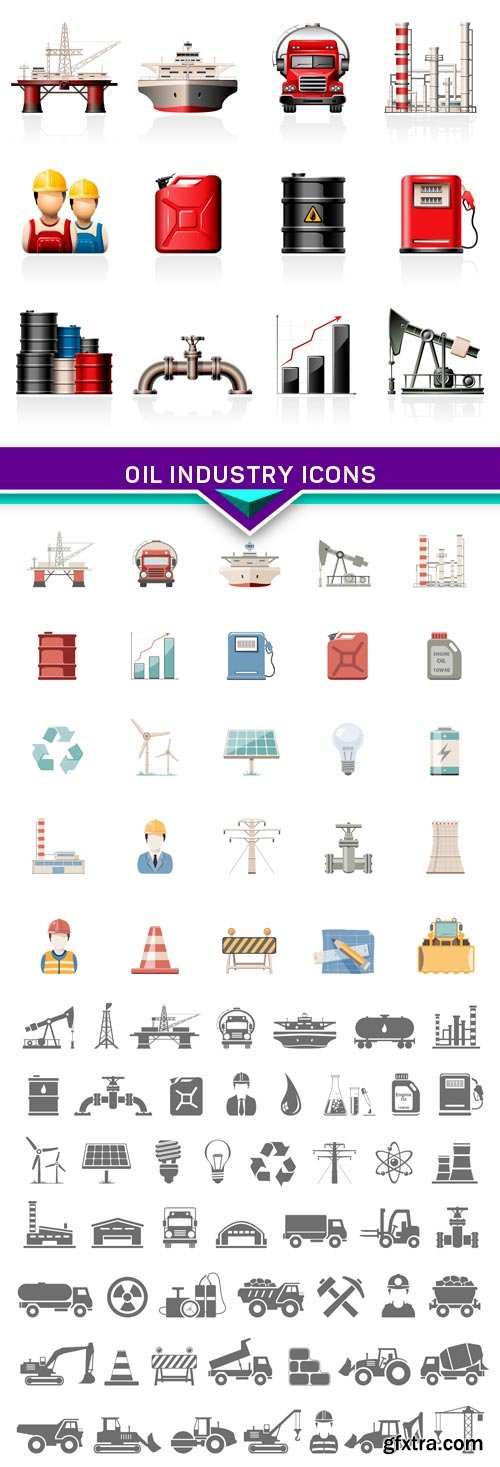 Oil Industry Icons 3X EPS