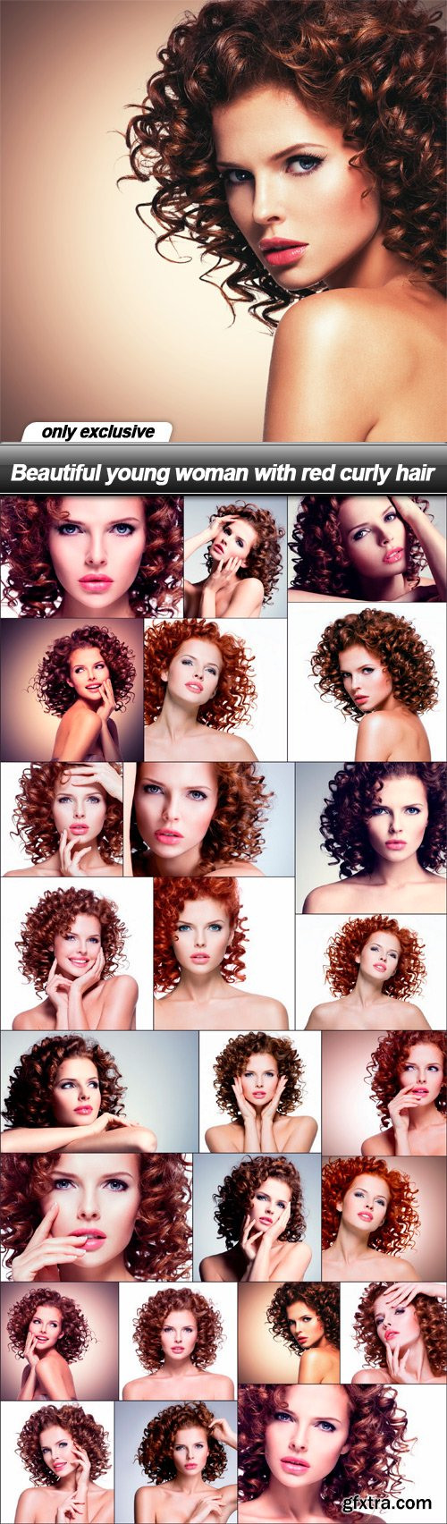 Beautiful young woman with red curly hair - 25 UHQ JPEG