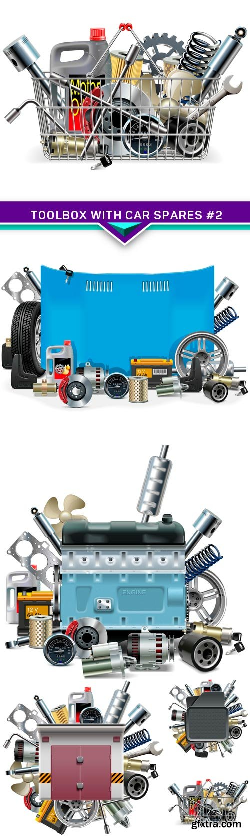 Vector Toolbox with Car Spares #2 5X EPS