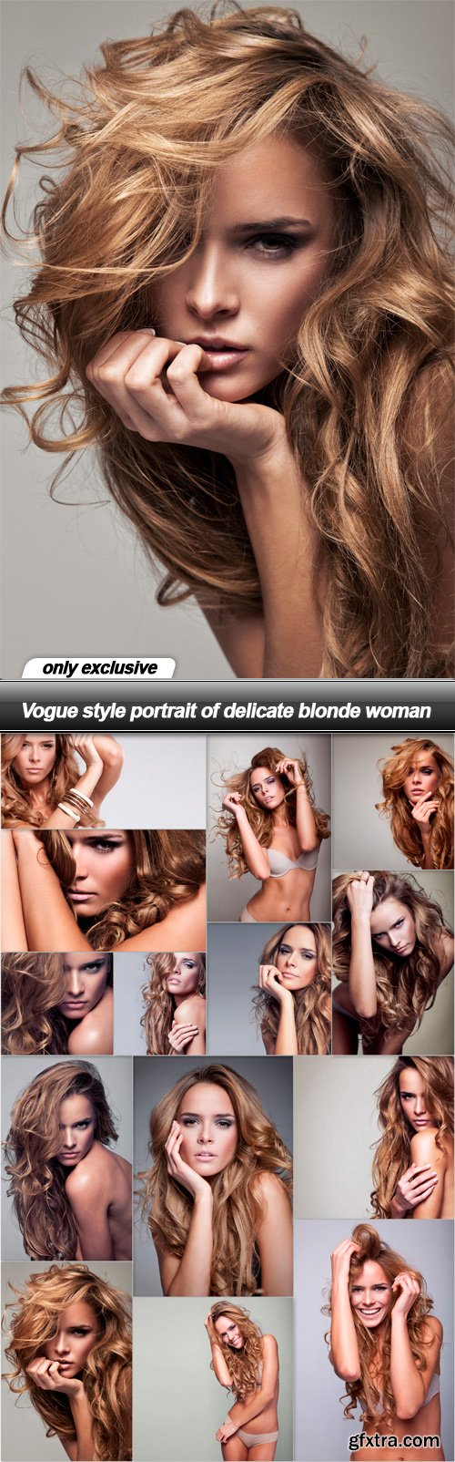 Vogue style portrait of delicate blonde woman - 14 UHQ JPEG