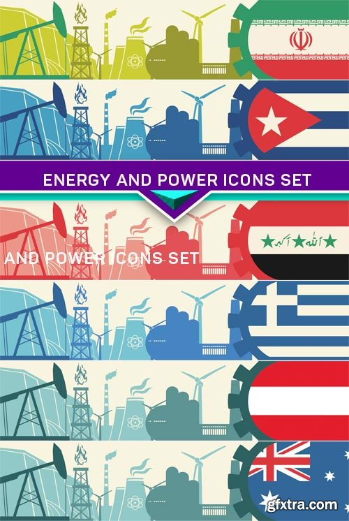 Energy and Power icons set 6X EPS