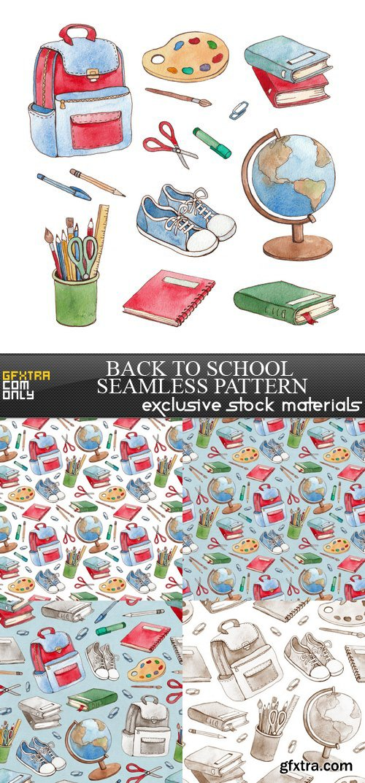 Back to School Seamless Pattern - 5 UHQ JPEG