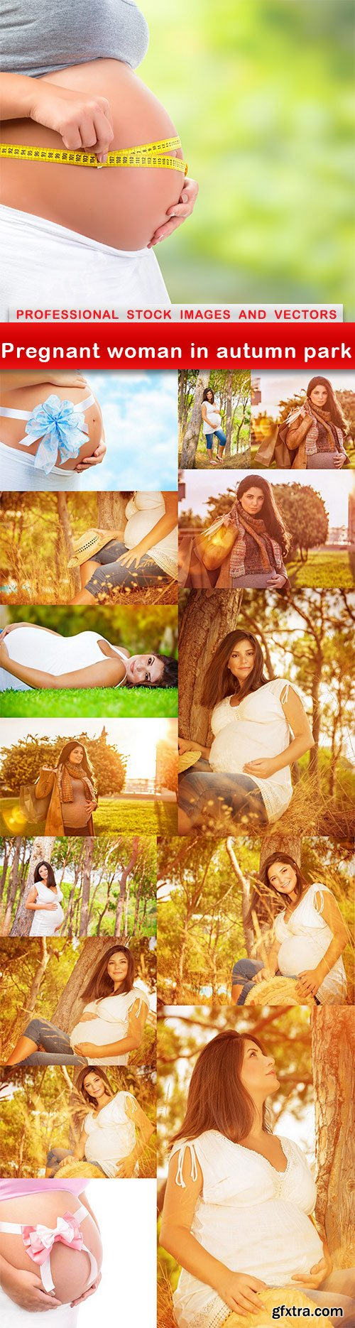 Pregnant woman in autumn park - 15 UHQ JPEG