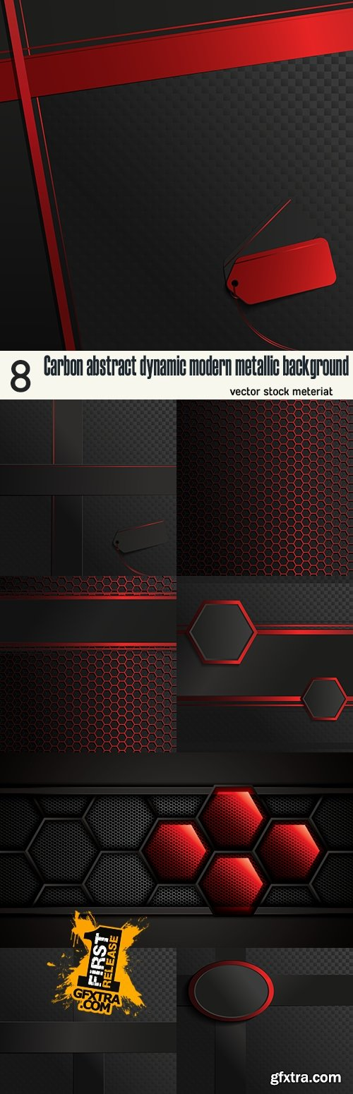 Carbon abstract dynamic modern metallic background