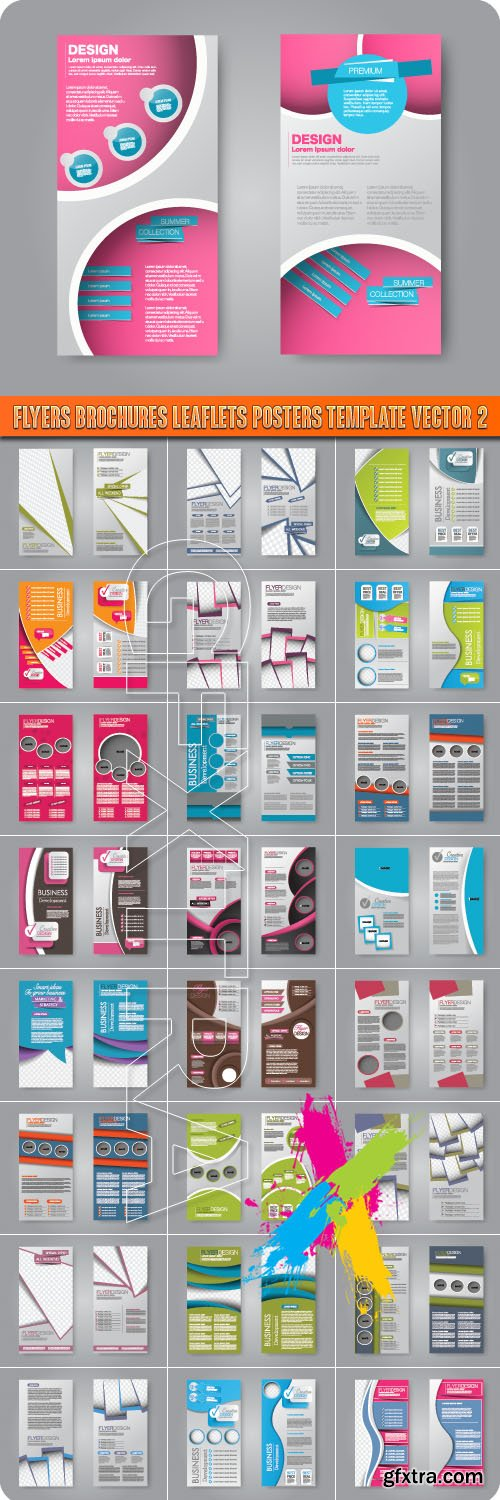 Flyers Brochures Leaflets Posters Template vector 2
