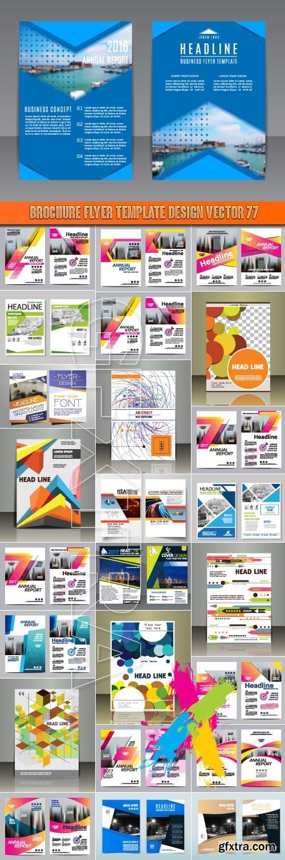 Brochure flyer template design vector 77