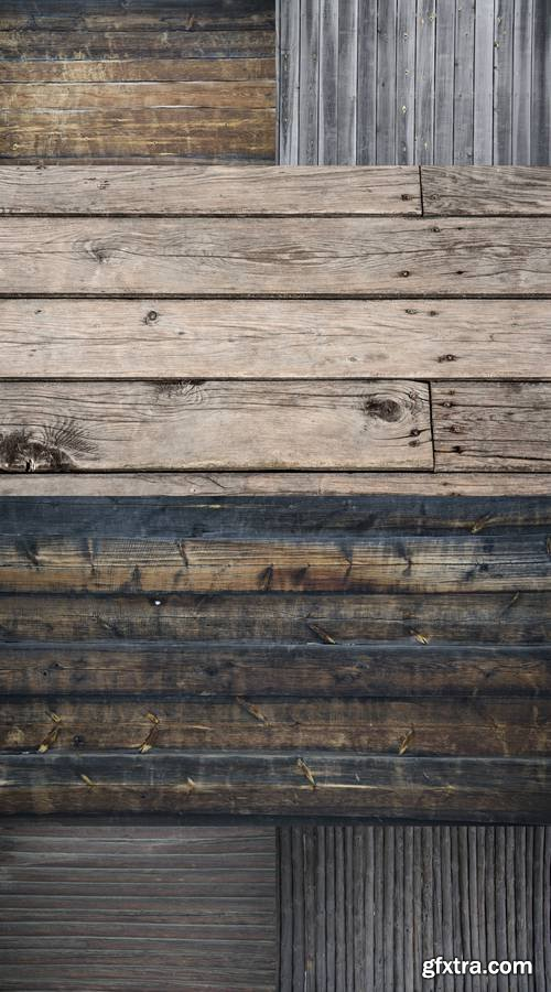 Background - Wall of Old Wooden House