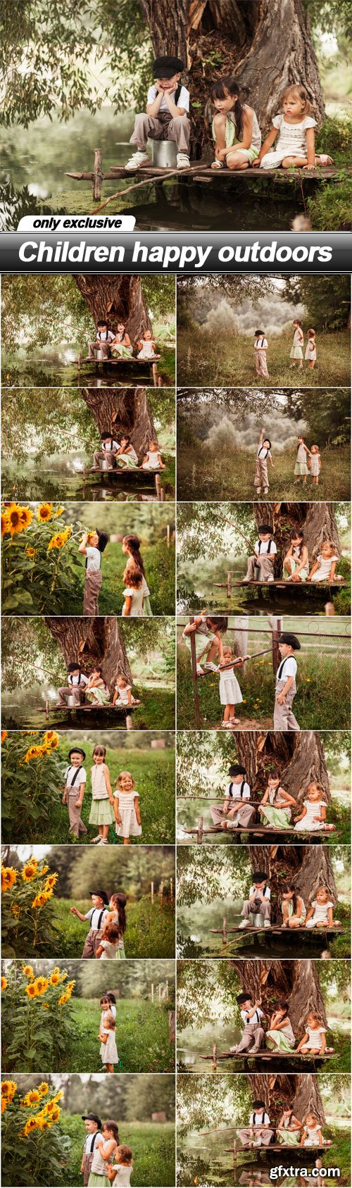 Children happy outdoors - 16 UHQ JPEG