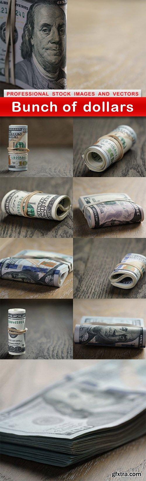 Bunch of dollars - 10 UHQ JPEG