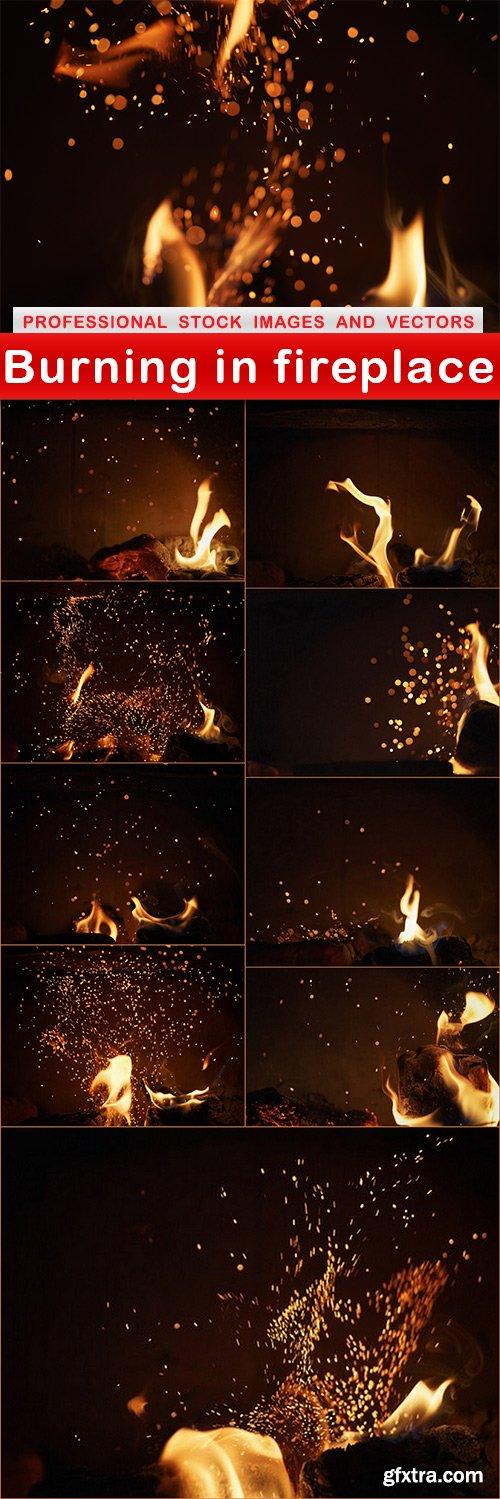 Burning in fireplace - 10 UHQ JPEG