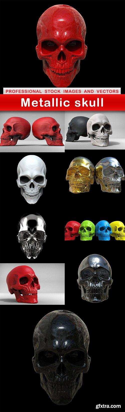 Metallic skull - 10 UHQ JPEG
