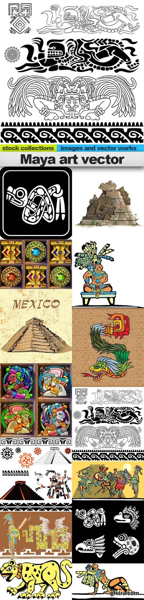 Maya art vector, 15 x EPS