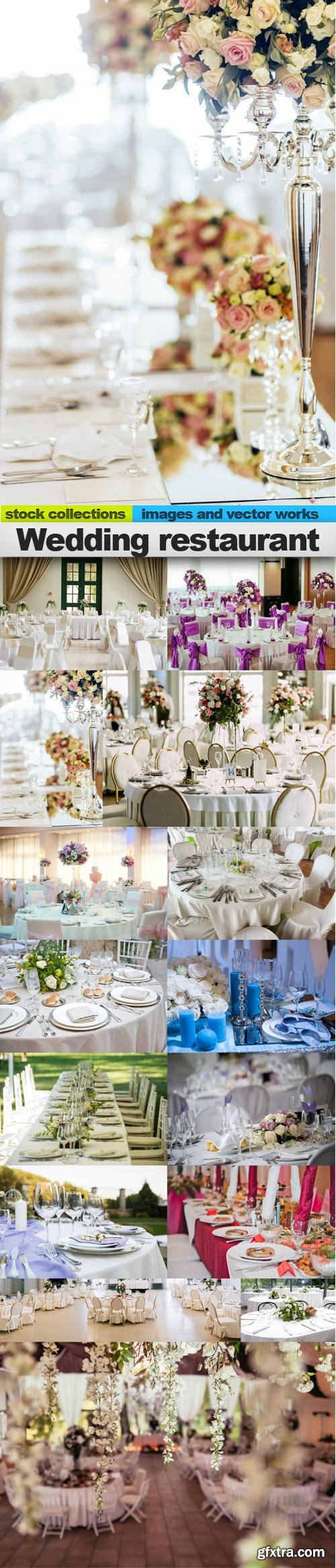Wedding restaurant, 15 x UHQ JPEG
