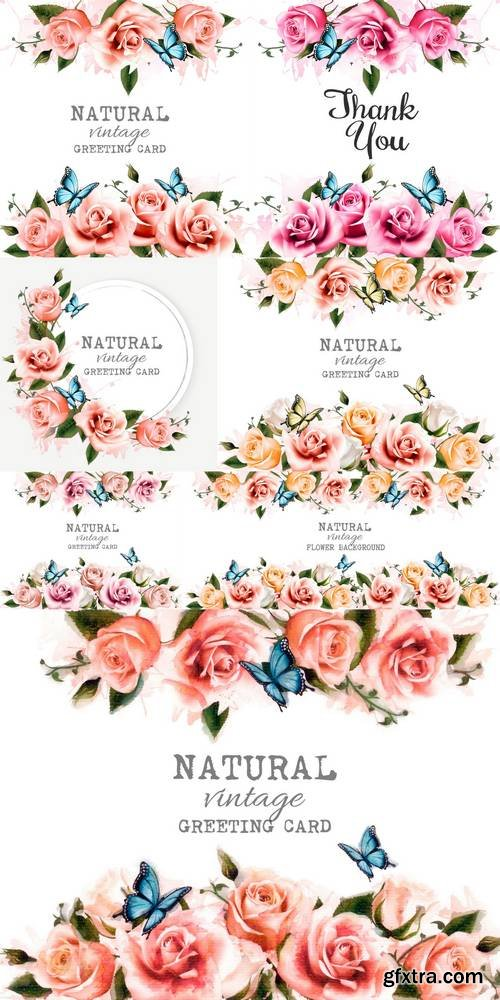 Natural Background with Roses