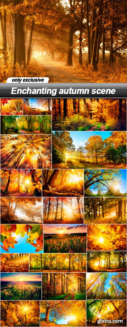 Enchanting autumn scene - 25 UHQ JPEG