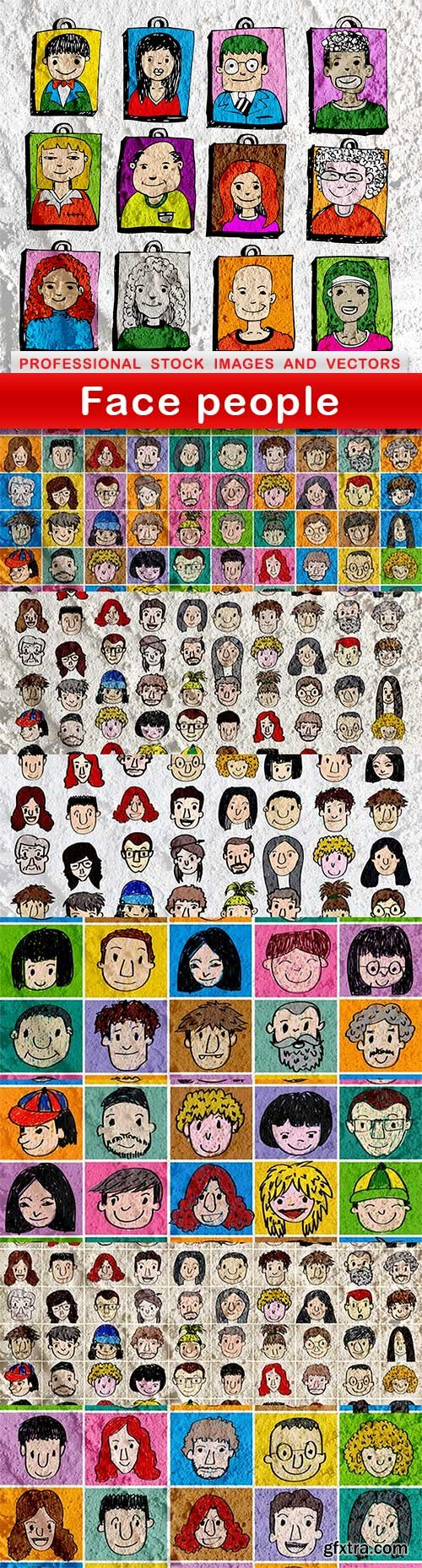 Face people - 8 UHQ JPEG