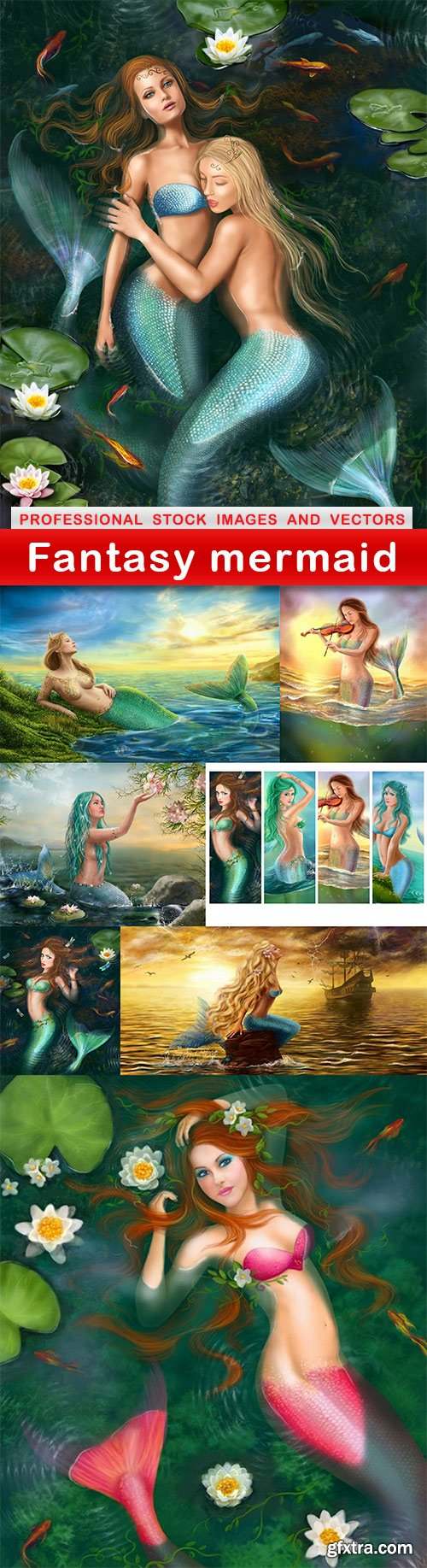 Fantasy mermaid - 8 UHQ JPEG