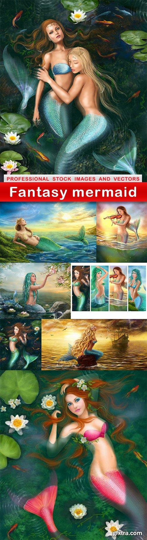 Fantasy mermaid - 8 UHQ JPEG