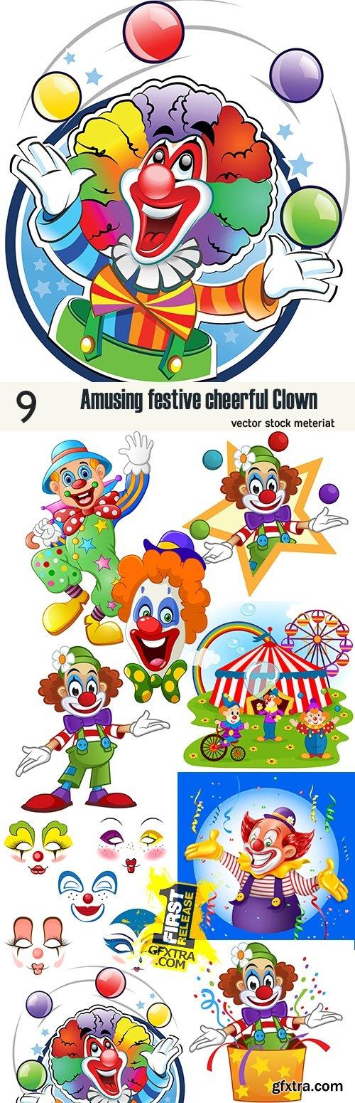 Amusing festive cheerful Clown