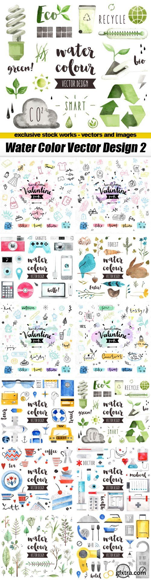 Water Color Vector Design 2 - 13xEPS