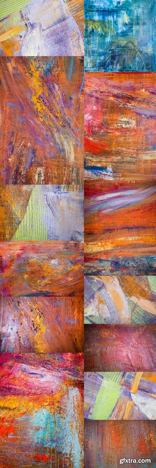 Painting Artistic Bright Color Oil Paints Texture Abstract Artwork 2