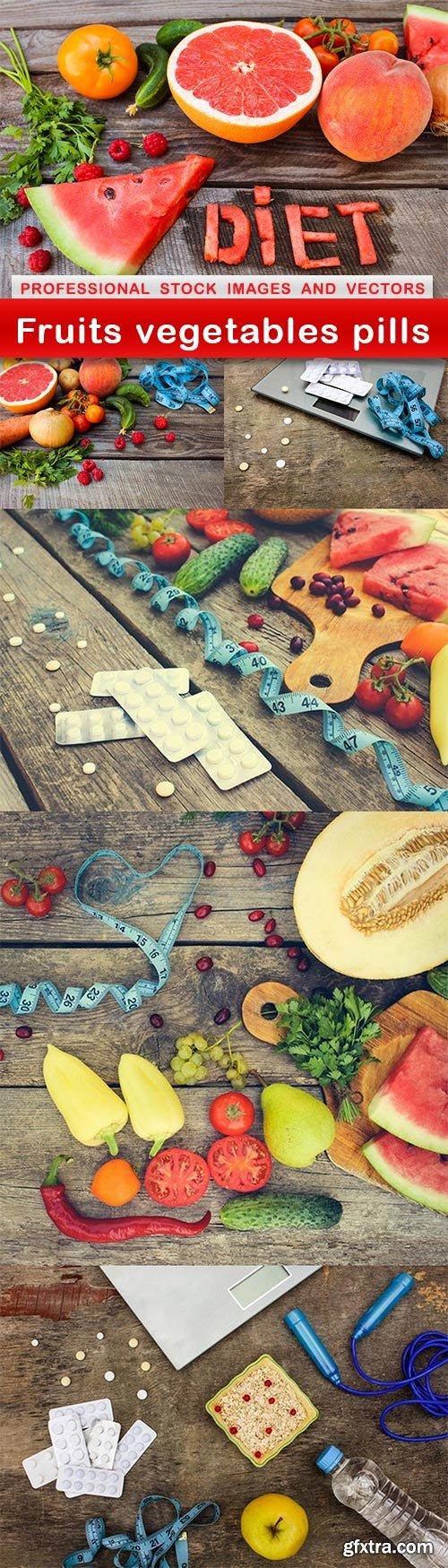 Fruits vegetables pills - 6 UHQ JPEG