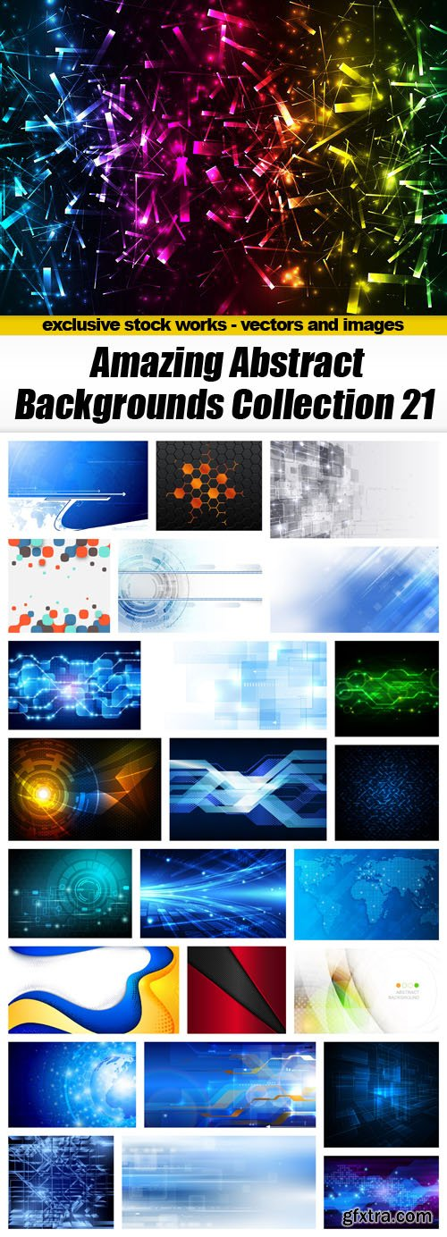 Amazing Abstract Backgrounds Collection 21 - 25xEPS