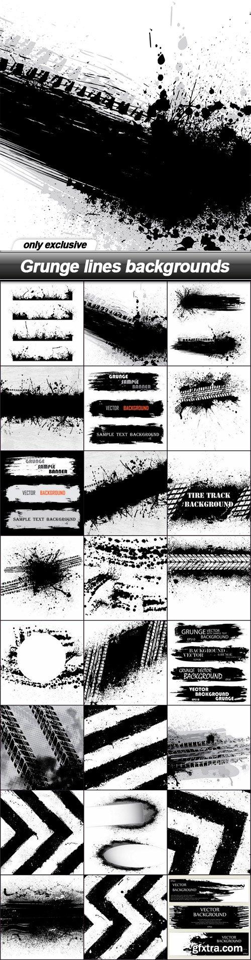 Grunge lines backgrounds - 24 EPS