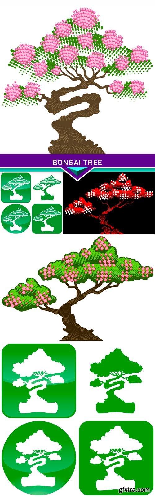 Bonsai tree 5X EPS