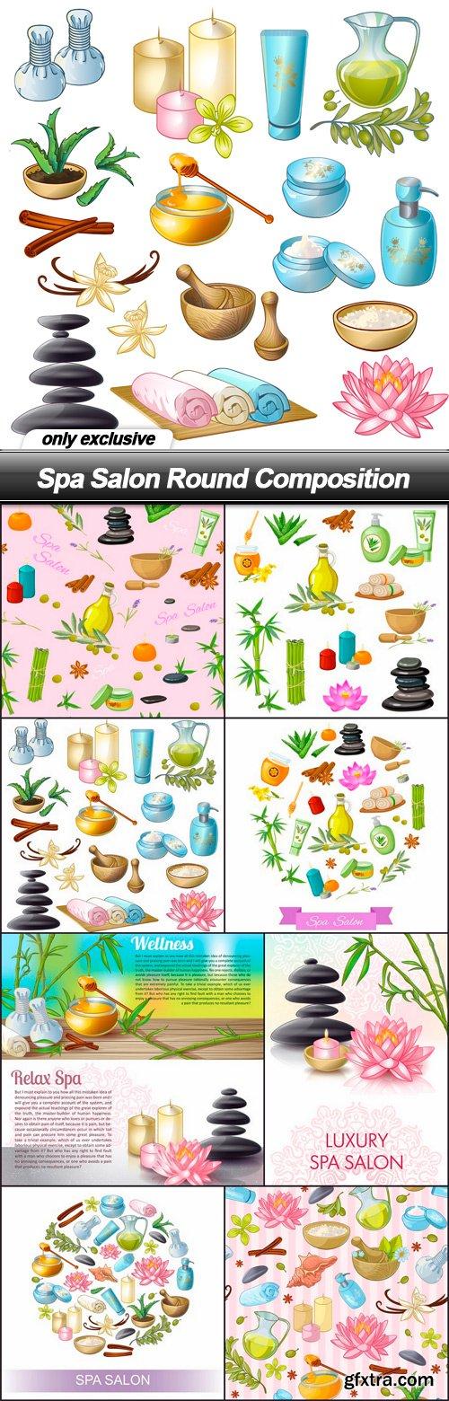 Spa Salon Round Composition - 8 EPS