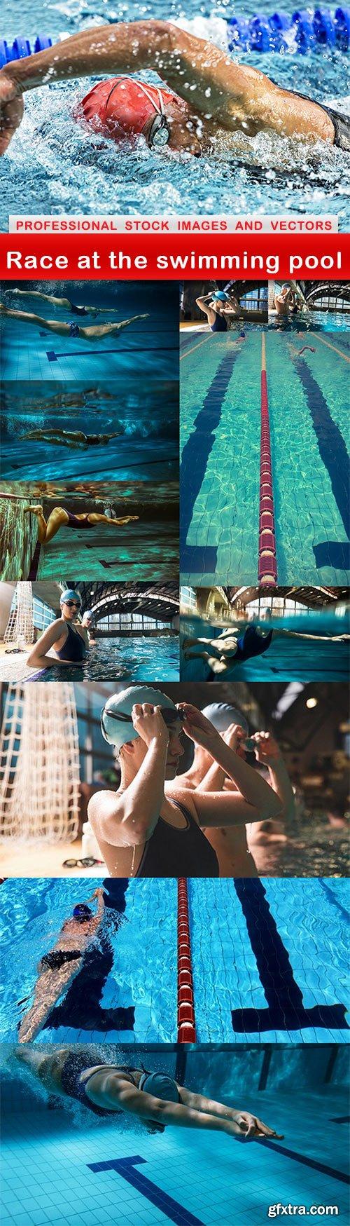 Race at the swimming pool - 12 UHQ JPEG