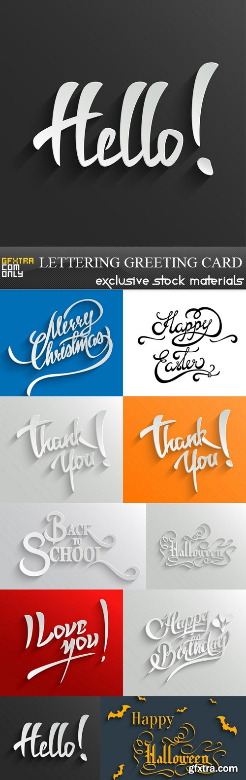 Lettering Greeting Card - 13 EPS