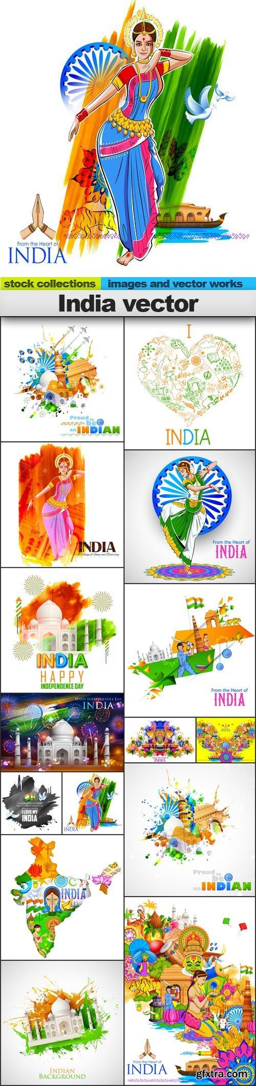 India vector, 15 x EPS