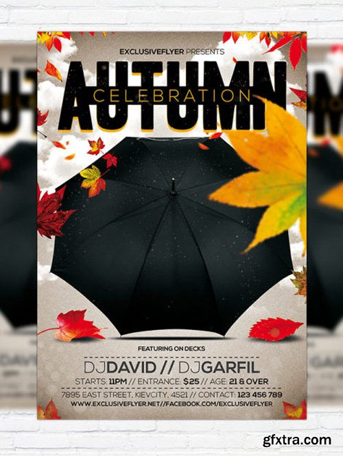 Autumn Celebration - Flyer Template + Facebook Cover