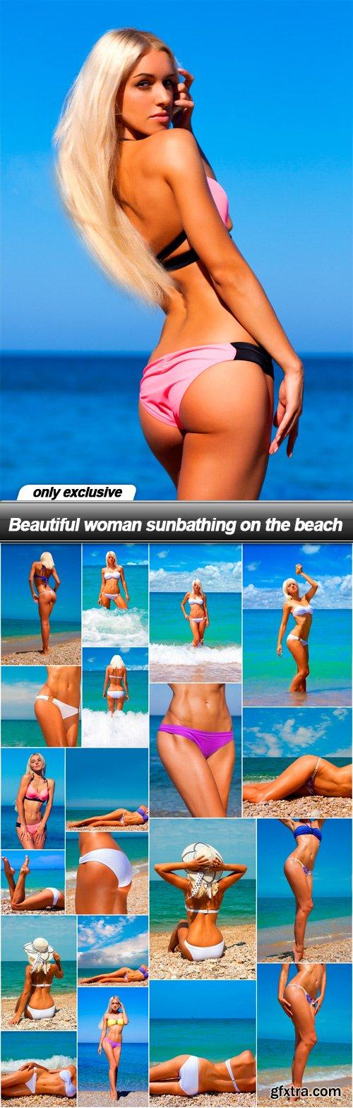 Beautiful woman sunbathing on the beach - 21 UHQ JPEG