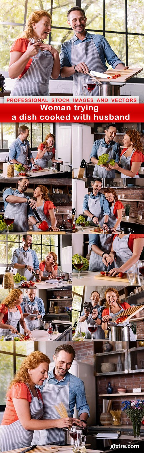 Woman trying a dish cooked with husband - 10 UHQ JPEG