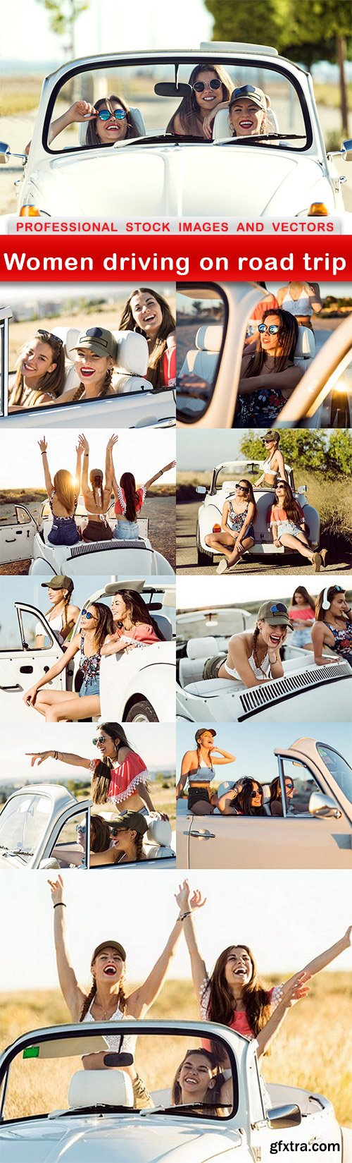 Women driving on road trip - 10 UHQ JPEG