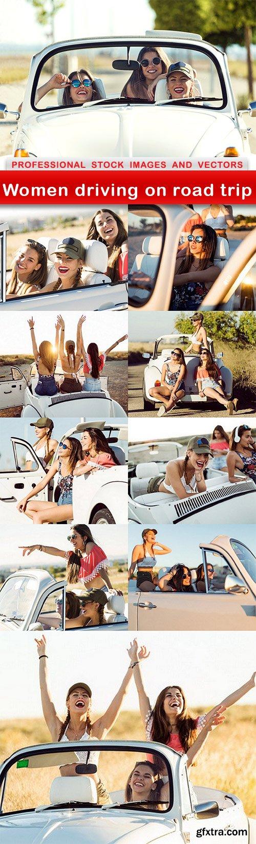 Women driving on road trip - 10 UHQ JPEG