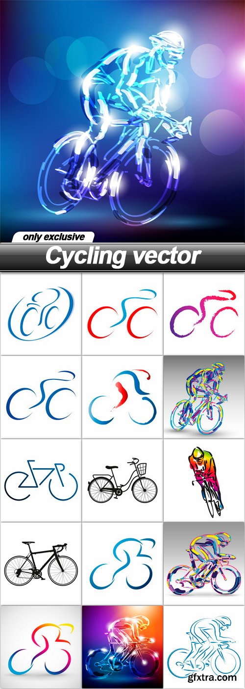 Cycling vector - 16 EPS