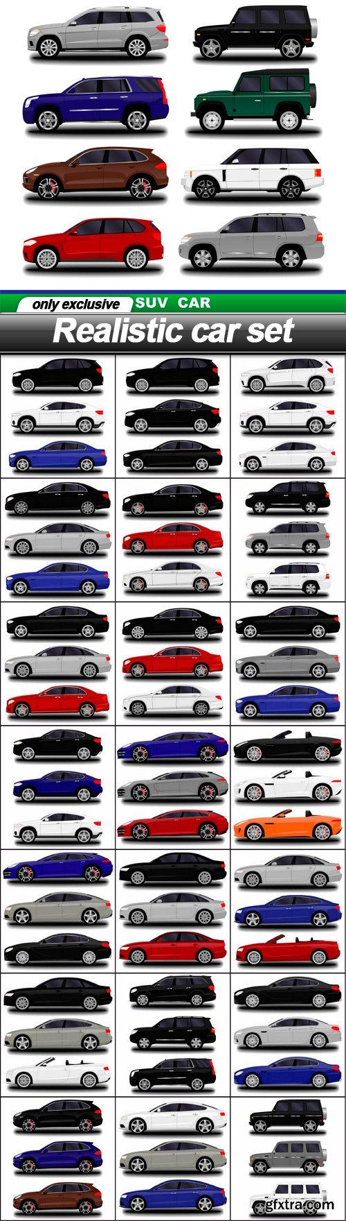Realistic car set - 22 EPS