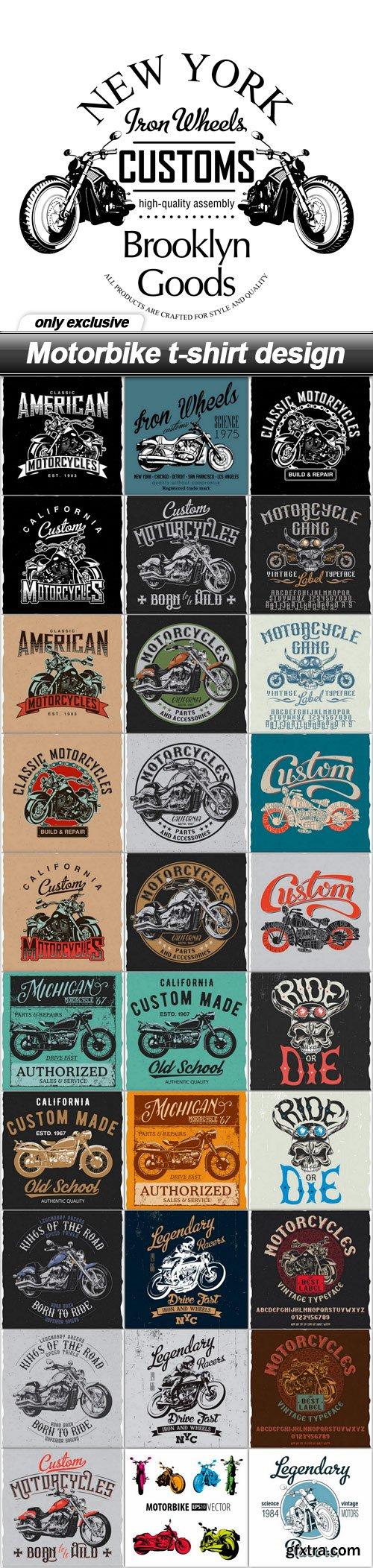 Motorbike t-shirt design - 31 EPS
