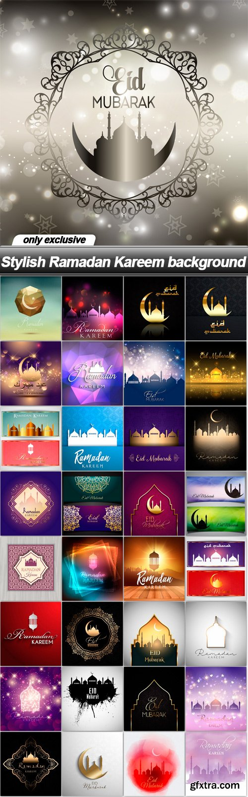 Stylish Ramadan Kareem background - 33 EPS